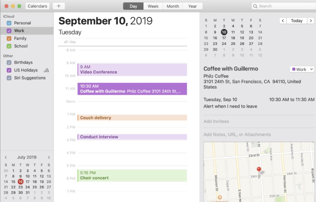 Calendar in iCloud