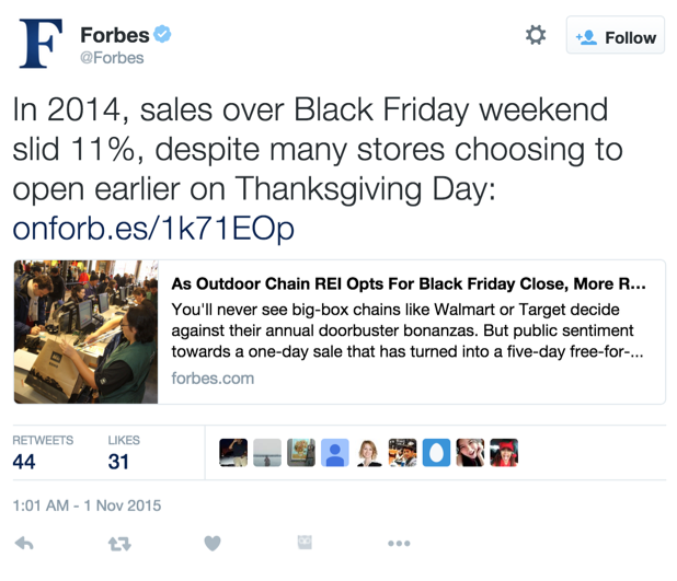 Forbes Twitter Post