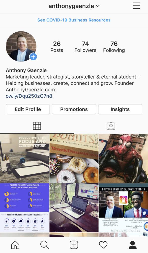 instagram anthony gaenzle