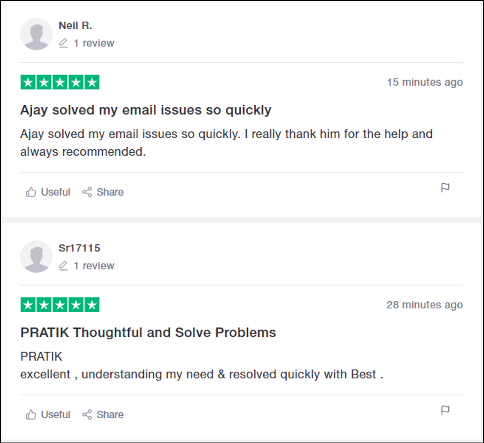 Customer Reviews of MilesWeb