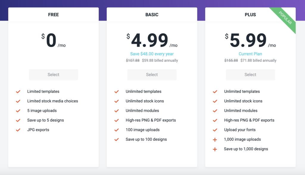 DesignCap Pricing