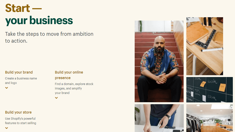 Starting a Shopify website