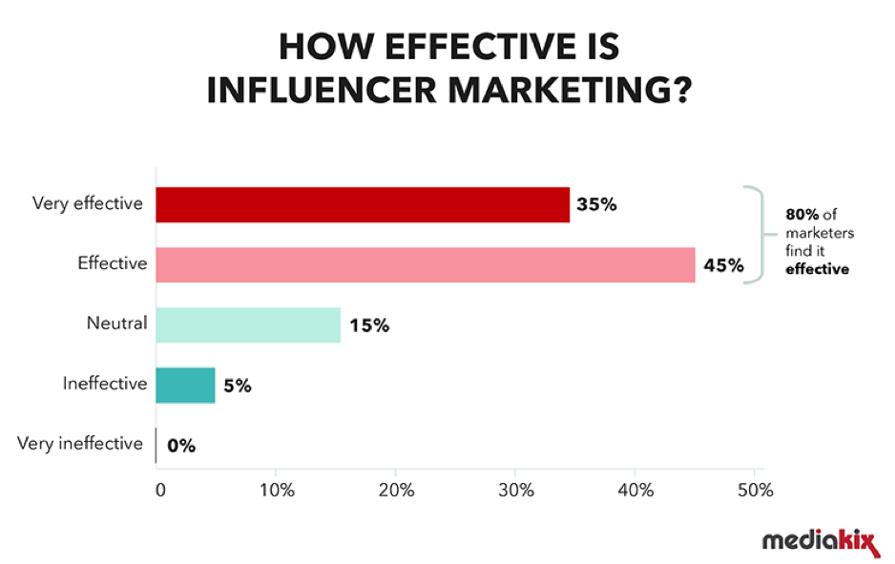 Influencer marketing survey results