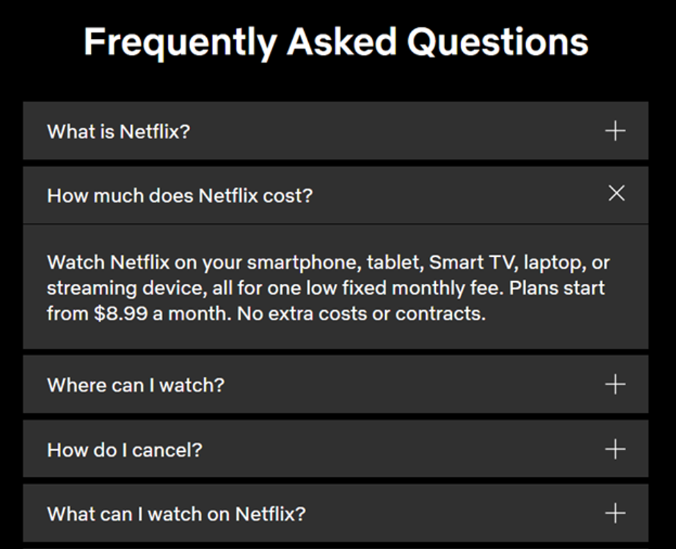 Netflix frequently asked questions