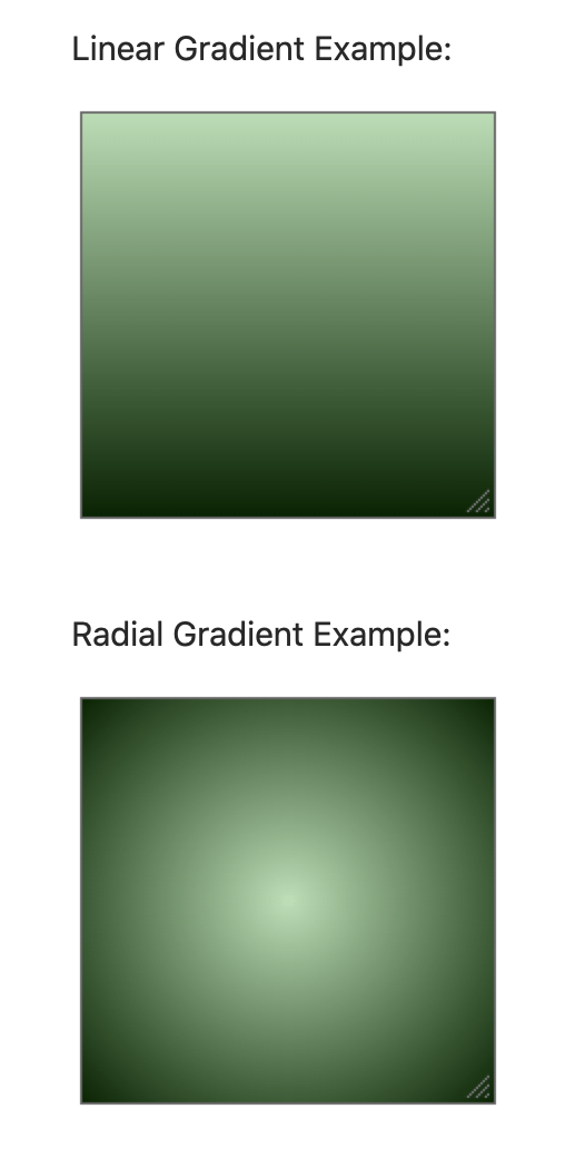 Linear vs. Radial Gradient